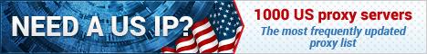 Нужна США IP? 1000 США прокси-серверы ! наиболее часто обновляется список прокси